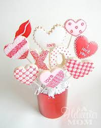 Valentines Day Decorated Cookies by Valentine U0027s Day Cookies Iced Decorated Cookie Bouquet