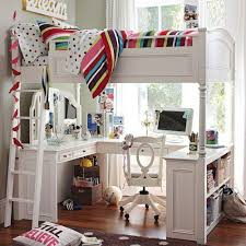 girls loft bed with a desk and vanity white bunk bed with desk vanity underneath there s no place like