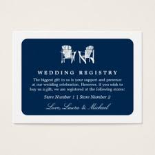 wedding gift card registry bridal registry business cards templates zazzle
