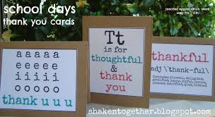 thank you cards for teachers free printable thank you cards shaken together