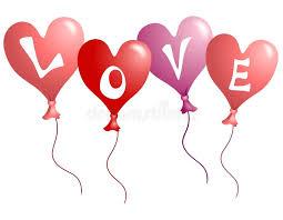 heart shaped balloons s day heart shaped balloons stock illustration