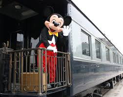 mickey mouse unveils latest train to join disney history mickey u0027s