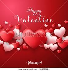 vector illustration happy valentines day background stock vector