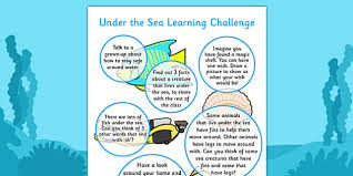 under the sea home learning challenges reception fs2 under the