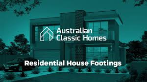 australian classic homes residential house footings and the