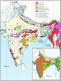 Tcu Map Map Of The Indian Subcontinent Bioregion Showing Tiger Figure