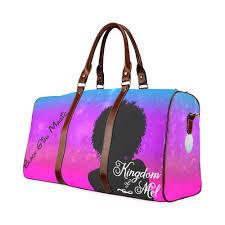 Small Travel Bags images Black girl magic waterproof travel bag small kingdom of melanin jpg