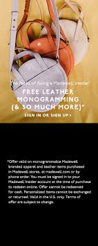monogrammable items the leather monogram shop madewell