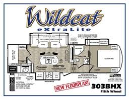bunkhouse fifth wheel floor plans forest river introduces bunk house floor plan for wildcat vogel