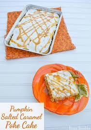 Pumpkin Toaster Strudel Pumpkin Salted Caramel Poke Cake Dessert Recipe