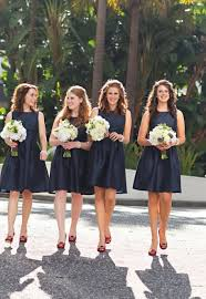 navy bridesmaid dresses cheap simple navy sleeveless bateau neck bridesmaid dress