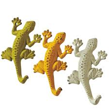 gecko lizard wall hooks in assorted colors at seasideinspired com