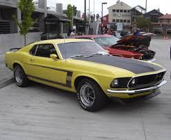 Black Mustang Boss 302 Grabber Yellow 1969 Mustang Boss 302 Fastback U002769 Mustang