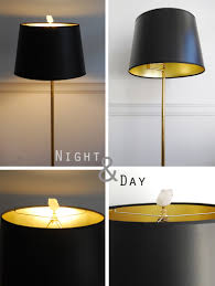 black lamp shades with gold lining best home furniture ideas