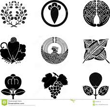 japanese family crests stock vector illustration of nature 22338110