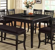 Tall Dining Room Table Black Counter Height Dining Table And Chairs