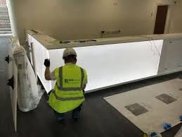 Glass Reception Desk New Project Backlit Glass Reception Desk For Leisure Centre Kent