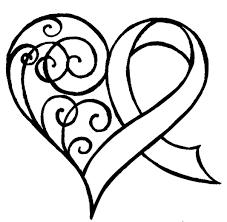 cancer ribbon with swirls by metacharis on deviantart
