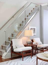 gothic home decor uk photos hgtv glass enclosed staircase above stylish gray sitting