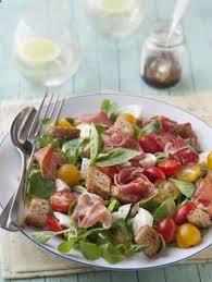 cuisine marmiton recettes salade mâche jambon de bayonne mozzarella recette de cuisine