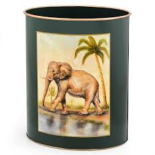 elephant wastebasket wastebaskets home decor accessories