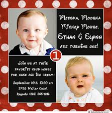 sibling birthday party invitation pink u0026 blue photos joint