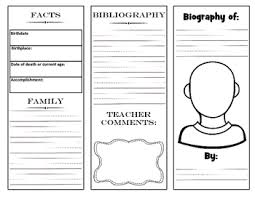 writing a biography graphic organizer biography brochure project with graphic organizer by lisa sadler