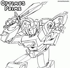 printable optimus prime transformers coloring pages cartoon