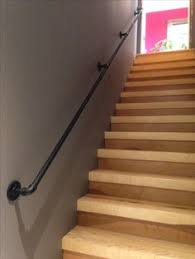 Home Depot Banisters Steel Handrail 3 4 Inch Bought Pipe And All Hardware At Home