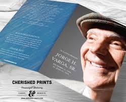 modern funeral programs modern blue striped texture funeral program funeral folder
