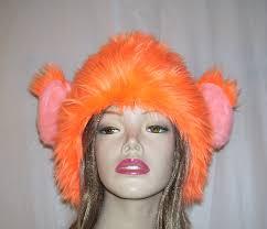 spirit halloween store adrian mi cheetos trump wig fur hat monkey orange furry hat political
