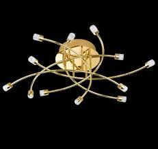 led deckenleuchte schlafzimmer deckenleuchte star led dh 64x17 cm in gelb metall von honsel