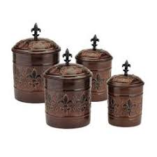 copper canister set kitchen antiqued copper kitchen canisters set of