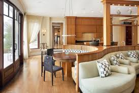 banquette with round table enhancing your kitchen dining area with a round table