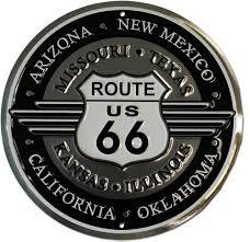 deco route 66 buy route 66 round deco sign flagline