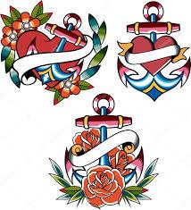 anchor navy tattoo u2014 stock vector pauljune 10068918