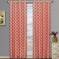Coral Blackout Curtains Meridian Thermal Grommet Room Darkening Curtains