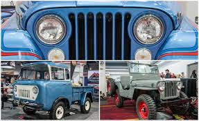 vintage jeep fcs jeepsters cjs and more the awesome classic jeeps of sema