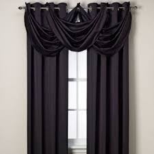 Black And Gray Curtains Buy Black Window Valances From Bed Bath Beyond