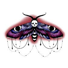neo traditional style moth prints by sugarthorns redbubble
