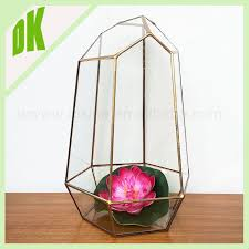 gold black cone glass hanging plant terrarium bottle flower vase