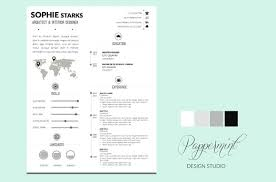 resume cover letter power point resume templates creative market