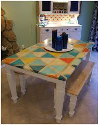 Kitchen Table Top Ideas Nine Red How To Diy Triangle Pattern Kitchen Tabletop