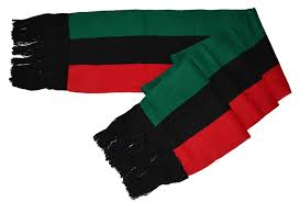 Afican Flag Mm Red Black And Green Pan African Flag Inspired Scarf 8
