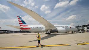 united airlines american airlines in heated on time arrival fight
