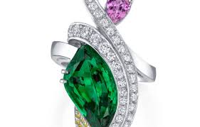 carved engagement rings ring beautiful garnet and emerald ring my carved emerald