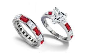 com red rings images Emerald heart diamond engagement rings wedding rings jpg