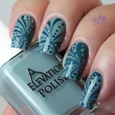 set in lacquer water marbling