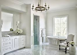 Spa Like Master Bathrooms - master bathroom tub nook with wainscoting transitional bathroom