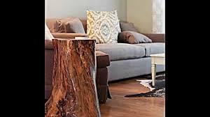 Wohnzimmer Deko Natur Deko Und Möbel Aus Baumstamm Selber Machen 15 Schnelle